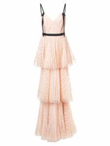 Marchesa Notte long empire line dress - Pink