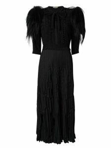 Bottega Veneta crêpe de chine embellished dress - Black