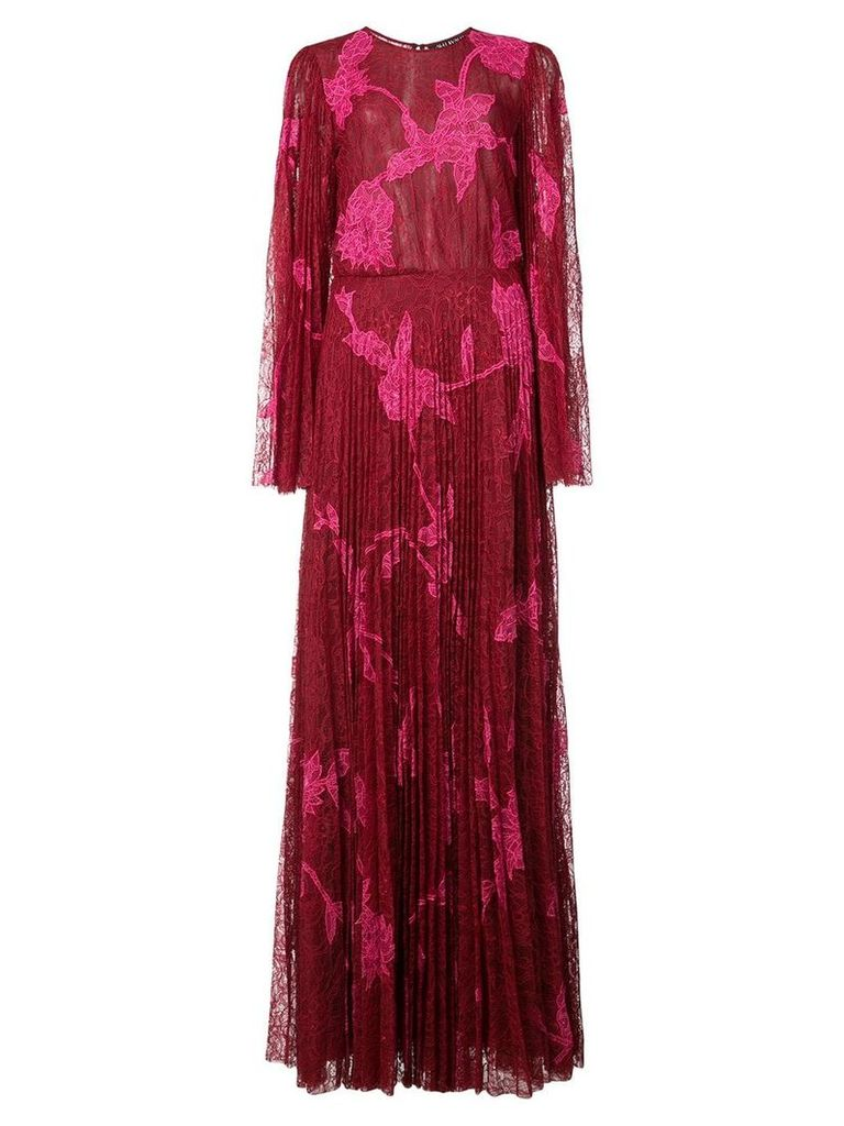 Sachin & Babi Modi lace gown - Red
