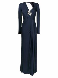 Versace long empire line dress - Blue
