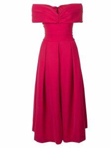 Preen By Thornton Bregazzi off shoulder flared dress - Pink