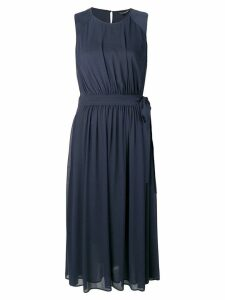 Luisa Cerano belted drape dress - Blue