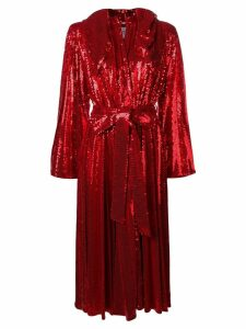 Atu Body Couture hooded sequin dress - Red