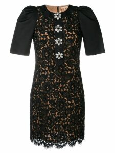 Michael Kors Collection floral lace dress - Black