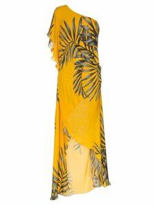 Johanna Ortiz Etimologia one-shoulder tropical print silk dress -