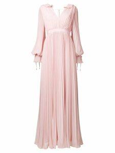 Self-Portrait pleated evening dress - Pink