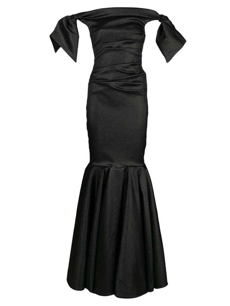 Talbot Runhof lamé evening dress - Black
