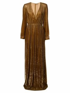 Adam Lippes V-neck gown - Brown