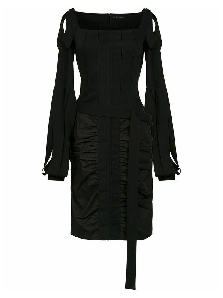 Gloria Coelho Corselet dress - Black