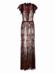 À La Garçonne embroidered long dress