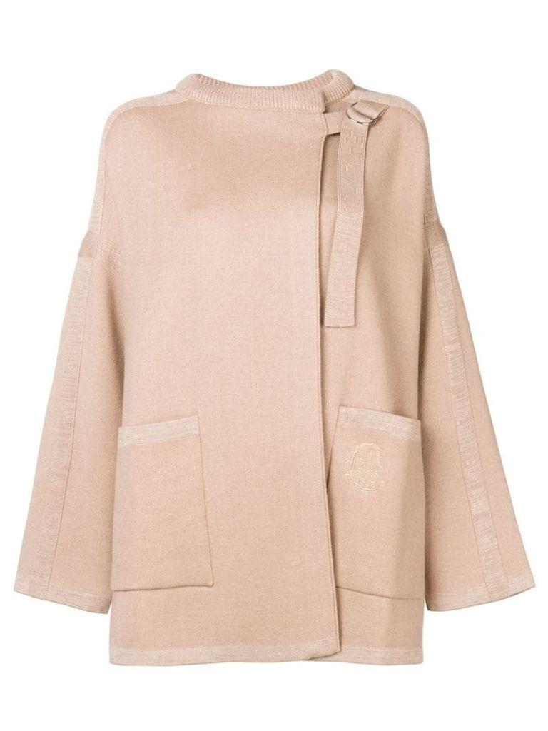 Chloé wrap coat - Neutrals