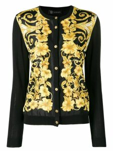 Versace slim cardigan - Black