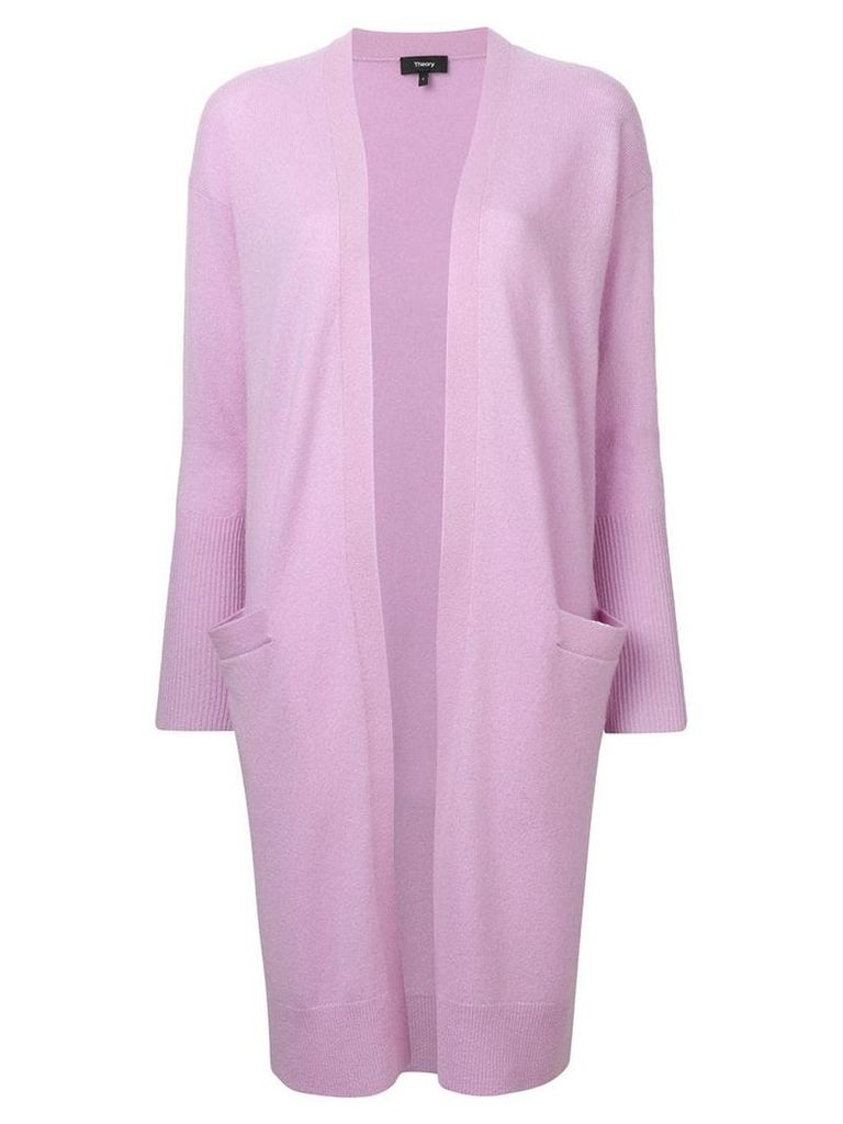 Theory long open front cardigan - Purple