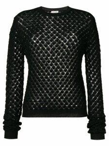 Saint Laurent glittery crochet jumper - Black