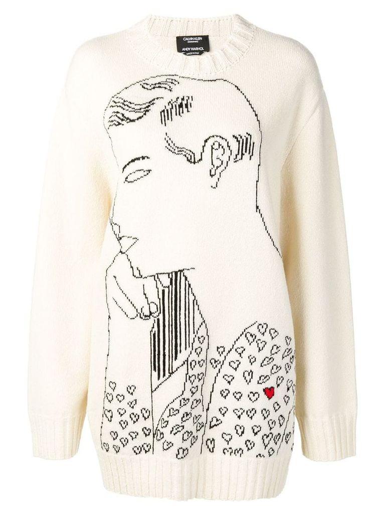 Calvin Klein 205W39nyc Warhol intarsia jumper - White