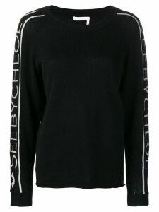 See By Chloé logo-stripe sweater - Black