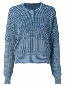 Diesel Black Gold boxy pullover in military-stitch cotton - Blue