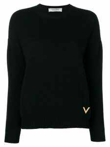 Valentino cashmere crew neck sweater - Black