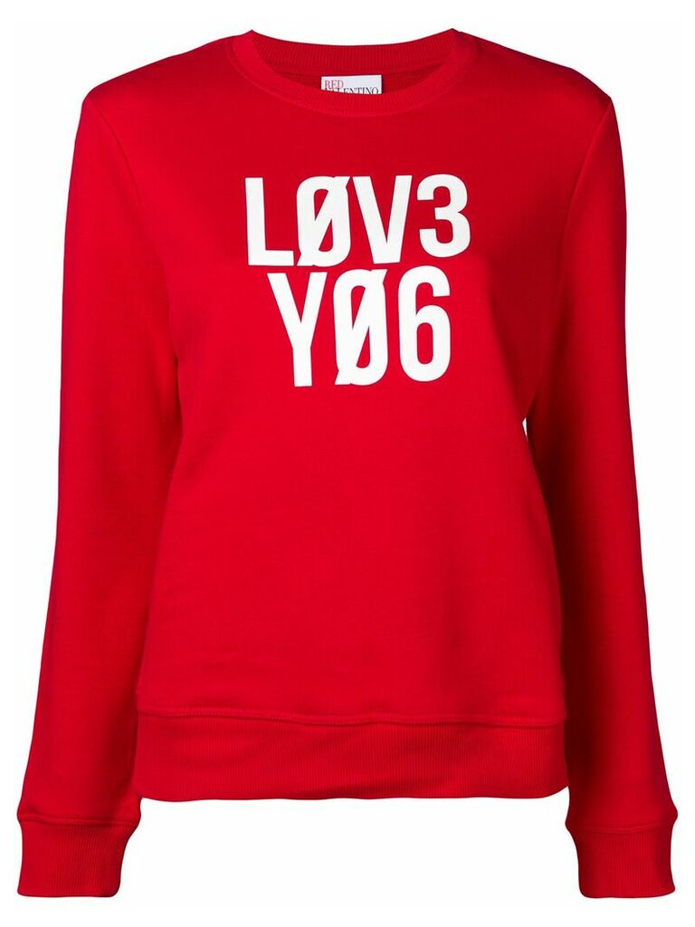 Red Valentino Love You jumper