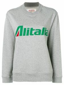 Alberta Ferretti slogan embroidered sweater - Grey