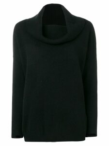 P.A.R.O.S.H. cowl-neck long sleeve sweater - Black