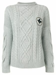 Mr & Mrs Italy cable-knit jumper - Grey