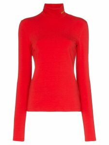 Calvin Klein 205W39nyc high neck fitted jersey top - Red