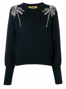 MSGM crystal-embellished sweater - Black