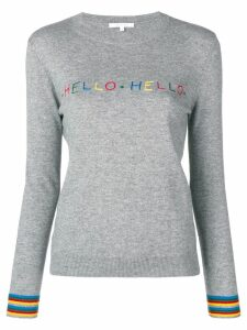 Chinti & Parker slogan fitted sweater - Grey