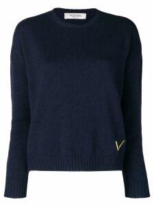 Valentino cashmere crew neck sweater - Blue