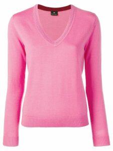 PS Paul Smith v-neck jumper - Pink