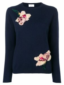Allude textured flower sweater - Blue
