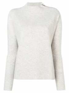 Allude round neck sweater - Grey