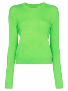 The Elder Statesman Billy cropped knitted cashmere jumper - Green