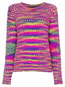 The Elder Statesman stripe cashmere jumper - Pink
