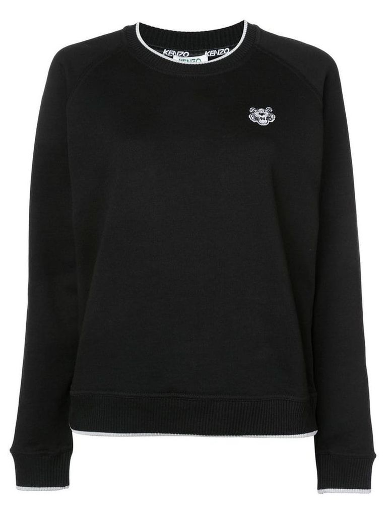 Kenzo Tiger patch jumper - Black