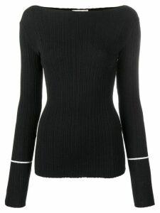Nina Ricci slash neck jumper - Black