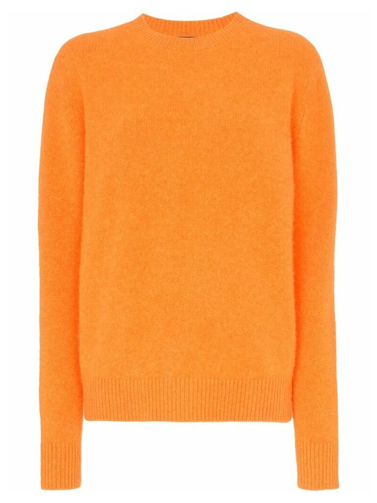 The Elder Statesman cashmere crew neck sweater - Orange