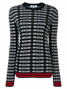 MSGM logo sweater - Black