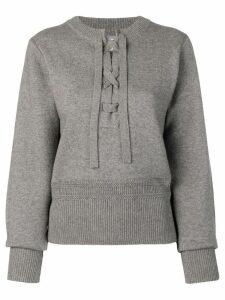 Isabel Marant Étoile lace-up sweater - Grey