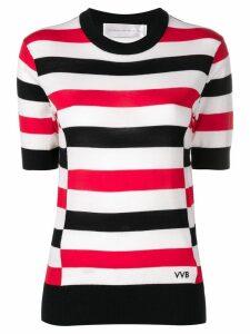 Victoria Victoria Beckham striped knitted blouse - Neutrals