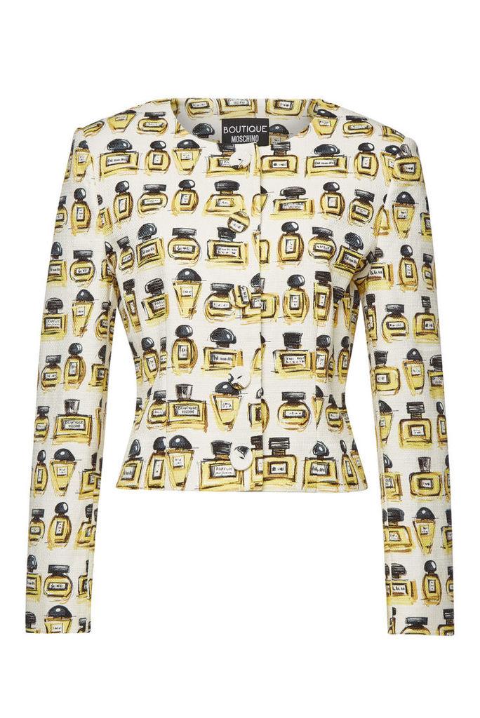 Boutique Moschino Printed Cotton Blazer