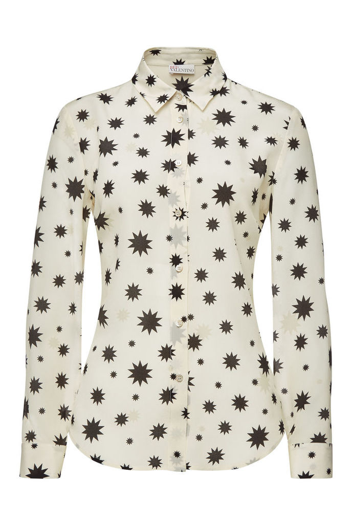 RED Valentino Printed Silk Blouse