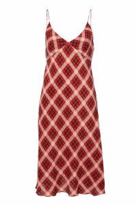 Marc Jacobs Plaid Silk Cami Dress