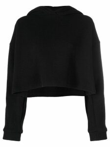 Christopher Kane crystal sleeve knitted hoodie - Black