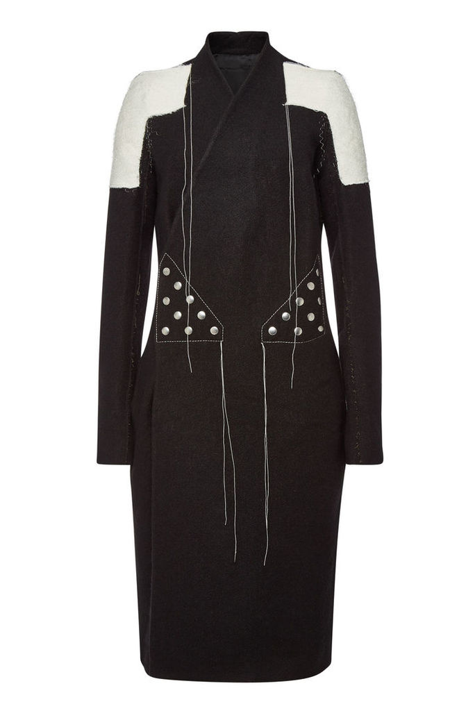 Rick Owens Coat with Wool and Linen