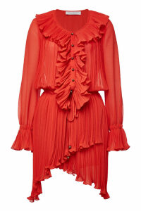Philosophy di Lorenzo Serafini Asymmetric Dress with Ruffles
