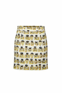 Boutique Moschino Printed Cotton Skirt