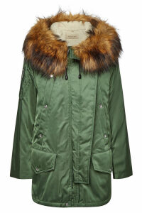 Burberry Lanfair Parka with Faux Fur