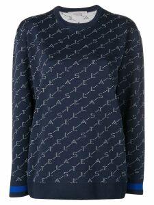 Stella McCartney logo printed sweatshirt - Blue
